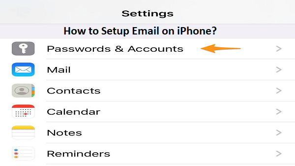 Setup Email on iPhone
